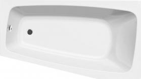 Aqualine BEROUNKA asymetrická vana 160x90x42cm, pravá, bílá A1691