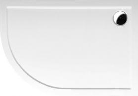 Polysan RENA R sprchová vanička z litého mramoru, čtvrtkruh 120x90x4cm, R550, pravá, bílá 65611