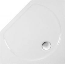 Polysan PIANO sprchová vanička akrylátová, pětiúhelník 90x90x4cm, bílá 71111