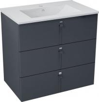 Sapho MITRA umyvadlová skříňka, 3 zásuvky, 74, 5x70x45, 2 cm, antracit MT082