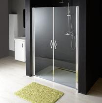 Gelco ONE sprchové dveře do niky dvoukřídlé 980-1020 mm, čiré sklo, 6 mm GO2810