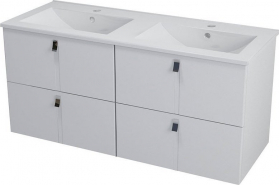Sapho MITRA dvojumyvadlová skříňka 119, 6x55x45, 2 cm, bílá MT121