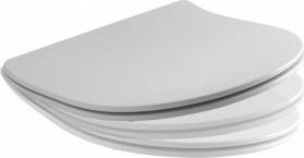 Kerasan AQUATECH WC sedátko SLIM Soft Close, termoplast, bílá/chrom 379101