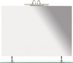 Sapho WEGA zrcadlo 1000x800mm s policí 60092