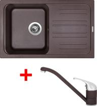 Granitový dřez Sinks CLASSIC 740 Marone+CAPRI 4 GR UKC740CA493