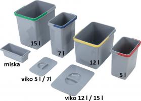 Sinks víko koše 12/15 l EK9143