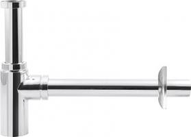 Aqualine Umyvadlový sifon 1'1/4, odpad 32mm, kulatý, chrom CV1003