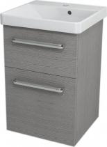 Sapho THEIA umyvadlová skříňka 46, 4x70x43, 5cm, 2xzásuvka, dub stříbrný TH054
