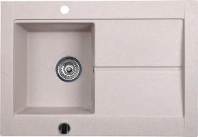 Sapho Dřez granitový vestavný s odkapávací plochou, 76, 5x53, 5 cm, béžová GR1502