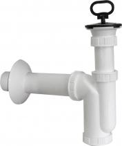 Sapho Dřezový sifon nerez výpust, zátka s uchem, odpad 50mm, bílá CV1017