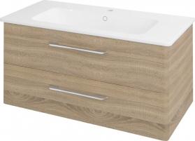 Sapho PURA umyvadlová skříňka 96, 6x50, 5x48, 5cm, dub starmood PR102