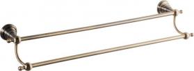 Sapho DIAMOND dvojitý držák ručníků 600mm, bronz 1318-11