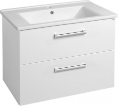 Aqualine VEGA umyvadlová skříňka 72x57, 6x43, 8cm, 2xzásuvka, bílá VG073