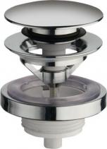 Silfra Uzavíratelná k. výpust pro umyvadla s přepadem Click Clack, tichá, V 5-60mm, chrom UD850S51