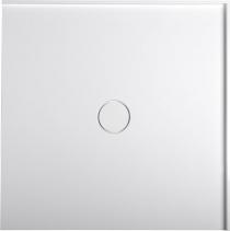 Polysan MIRAI sprchová vanička z litého mramoru, čtverec 80x80x1, 8cm, bílá 73182