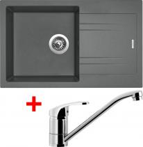 Granitový dřez Sinks LINEA 780 N Titanium+PRONTO LI78072NPRCL