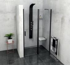 Polysan ZOOM LINE BLACK sprchové dveře 1200mm, čiré sklo ZL1312B