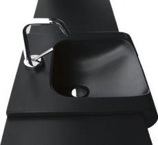 Kerasan INKA keramické umyvadlo 40x40cm, černá mat 341231