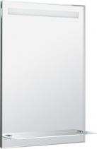 Aqualine LED podsvícené zrcadlo 60x80cm, skleněná polička, kolíbkový vypínač ATH53