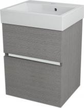 Sapho LARGO umyvadlová skříňka 49x60x41cm, dub stříbrný LA500
