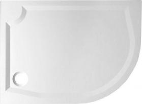 Gelco RIVA sprchová vanička z litého mramoru, čtvrtkruh 100x80cm, levá GR10080L
