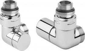 Sapho CORNER připojovací sada ventilů triaxiální, PRAVÉ provedení, chrom CP130