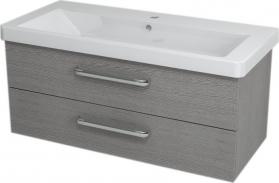 Sapho THEIA umyvadlová skříňka 101, 4x43, 2x43, 5cm, 2xzásuvka, dub stříbrný TH107