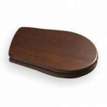 Kerasan RETRO WC sedátko, dřevo masiv, ořech/chrom 109040