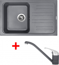 Granitový dřez Sinks CLASSIC 740 Titanium+CAPRI 4 GR UKC740CA472