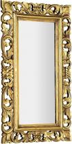 Sapho SAMBLUNG zrcadlo v rámu, 40x70cm, zlatá IN110