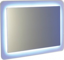 Sapho LORDE zrcadlo s přesahem s LED osvětlením 900x600mm, bílá NL602