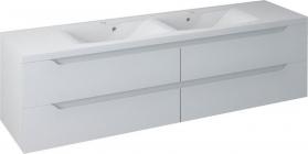 Sapho WAVE dvojumyvadlová skříňka 180x50x48cm, bílá (WA181) WA180-3030