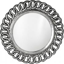 Sapho CERCLE kulaté zrcadlo v rámu, 80x80cm, stříbrná IN138