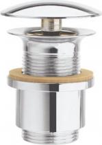 Silfra Neuzavíratelná výpust pro umyvadla bez přepadu, V 10-20mm, chrom UD30951