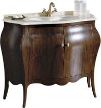 Gallo Wood ISOTTA 105-S skříňka s umyvadlem, š. 107cm, mramor Rosa Perlino, noce IW-105