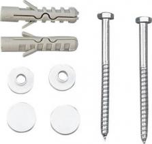 Aqualine MAK10 komplet pro kotvení WC mís, vrut 6, 0x80, bílá 40024