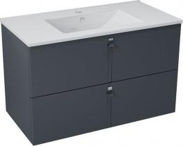Sapho MITRA umyvadlová skříňka 89, 5x55x45, 2 cm, antracit MT092