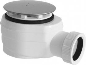 Sapho Vaničkový sifon, průměr otvoru 60 mm, DN40, krytka leštěný nerez SN640