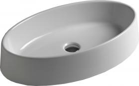Sapho OVAL keramické umyvadlo 64, 5x13x35, 5 cm, na desku, bez přepadu W900701