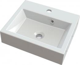 Sapho ORINOKO umyvadlo 42x36cm, litý mramor, bílá OR042