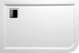 Polysan LUNETA sprchová vanička akrylátová, obdélník 100x80x4cm, levá, bílá 51511