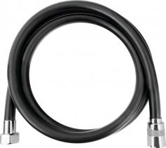 Sapho SOFTFLEX hladká sprchová plastová hadice, 150cm, černá mat/chrom 1208-16