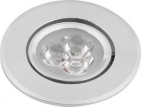 Sapho DORIN LED podhledové svítidlo 3x1W, 230V, 68 mm, studená bílá, 60 st. LDC130