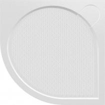 Gelco ARCA sprchová vanička z litého mramoru, čtvrtkruh, 80x80x3 cm, R550 PA558