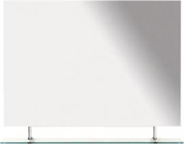 Sapho WEGA zrcadlo 900x800mm, s policí 60092-9