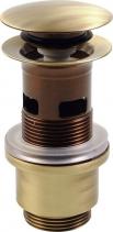 Silfra Uzavíratelná k. výpust pro umyvadla s přepadem, Click Clack, tichá, V 40-64mm, br UD399S92