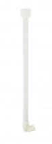 Ridder Podpora rohové sprchové tyče, bílá 596001