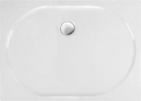 Polysan ELIPSA sprchová vanička akrylátová, obdélník 100x80x4cm, bílá 67511
