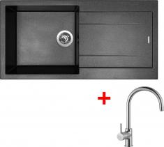 Granitový dřez Sinks AMANDA 990 Metalblack+VITALIA AM99074VICL