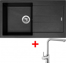 Granitový dřez Sinks AMANDA 860 Metalblack+ELKA AM86074ELCL